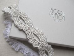 Goddess beaded garter White by florriemitton on Etsy, $82.00