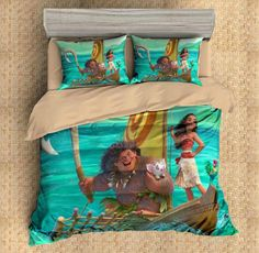 3D Customize Moana Bedding Set Duvet Cover Set Bedroom Set Bedlinen 1)100% Microfiber,Soft and Comfortable. 2)Environmental Dyeing,Never Lose Color. 3)2017 Newest Design,Moana,Fashion and Personality.