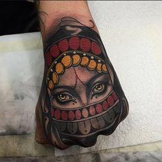 Tattoo by Tim Tavaria neotraditional realism neotraditionalrealism TimTavaria girl
