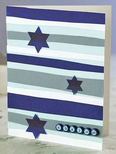 Use Vellum Strips to Create Stripes on a Card Front
