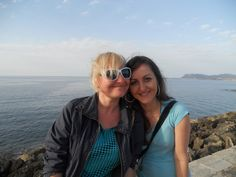 Polish friends at Chania harbour Crete Greece.