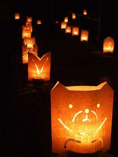 Lanterns by School Kids, Kurashiki, Japan 倉敷 春宵あかり