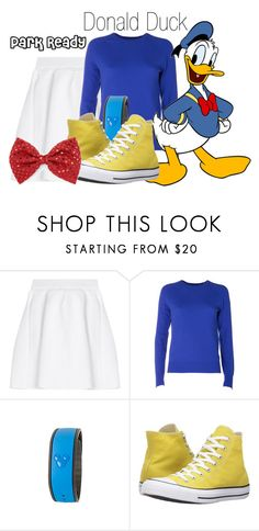 """""""Donald Duck~ DisneyBound"""" by basic-disney ❤ liked on Polyvore featuring malo, Equipment, Disney and Converse"""