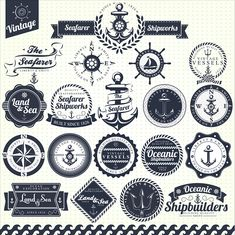 A great set of free vintage nautical vectors to download. These free vintage nautical vectors are great for creating vintage designs that really stand out.