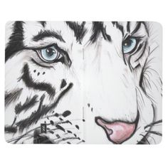 Snow Leopard (Kimberly Turnbull Art) Journal - black gifts unique cool diy customize personalize
