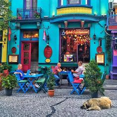All Things Turkey Beautiful Homes, Beautiful Places, Pintura Exterior, Sidewalk Cafe, Colourful Buildings, World Of Color, Mellow Yellow, House Painting, Bohemian Decor