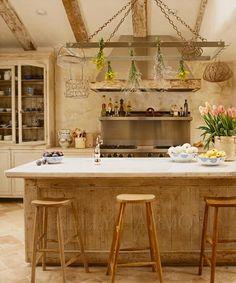 pretty vintage modern kitchen
