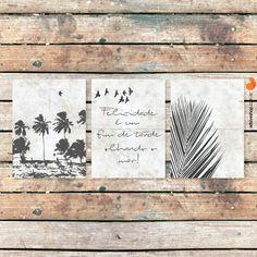 """Placas Decorativas """"Beach"""" - Papel de Parede e Adesivos Decorativos - AdsiveShop"""