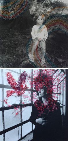 Hand Sewn Portraits by Melissa Zexter