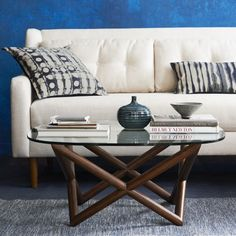 Spindle Coffee Table // I don't typically go for glass surfaces, but the sculptural base may have sold me on this one.