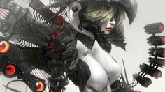 science fiction women cyborgs artwork fantasy art Ghost in the Shell androids  Pictures and Images