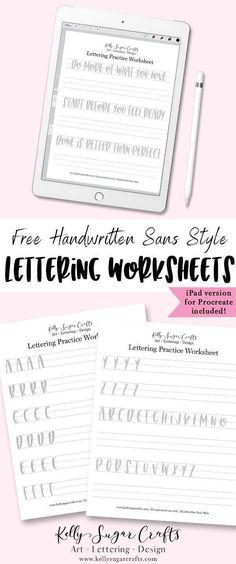 free sans serif lettering worksheets