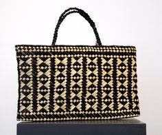 Lisa McKendry Kura Gallery Maori Art Design New Zealand Aotearoa Weaving Kete Papakirango Black Natural