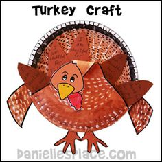 Thanksgiving craft - Turkey Paper Plate Craft from www.daniellesplace.com