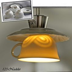 Lampenschirm trifft Porzellan / Lampshade meets china / Upcycling