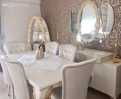 Salonda klasik stil ile göz alıcı ve şık, oturma odası ve mutfakta renkli dokunuşlarla enerjik bir dekor. Gözde hanımın farklı stillerle, farklı farklı atmosferler yakaladığı, zevkli evinin konuğuyuz....