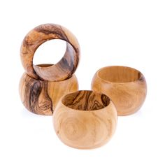 Olive Wood Napkin Rings Set of 4 - Handmade Wooden Napkin Holders Wooden Napkin Rings, Wood Napkin Holder, Dishwasher Soap, Fabric Gift Bags, Handmade Kitchens, Handmade Wooden, Tree Branches, Decorative Items, Utensils