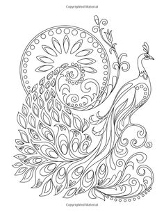 Coloring Book for Adults: Amazing Swirls Peacock Drawing, Peacock Wall Art, Peacock Painting, Dot Painting, Peacock Coloring Pages, Animal Coloring Pages, Coloring Book Pages, Bird Drawings, Colorful Drawings