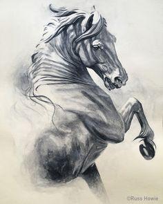 Horse drawing by Russ Howie Pferdezeichnung von Russ Howie Horse Drawings, Art Drawings Sketches, Animal Drawings, Drawing Art, Arte Equina, Horse Sketch, Horse Anatomy, Horse Illustration, Horse Artwork