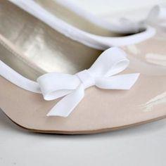 DIY dressed up high heels using bias tape. So easy.