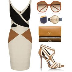 A fashion look from July 2013 featuring Bernshaw dresses, Prada pumps and Prada wallets. Browse and shop related looks. Fashion Night, Look Fashion, Womens Fashion, Fashion Trends, Fashion Ideas, Fashion Beauty, Classy Outfits, Stylish Outfits, Jw Mode