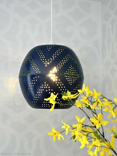 Use this tutorial to make your own perforated pendant lamp.