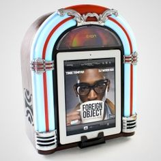 This nostalgic Jukebox dock for iPad will add a nice retro touch to any room.