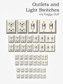 My Froggy Stuff: Printable Dollhouse Outlets and Light Switches