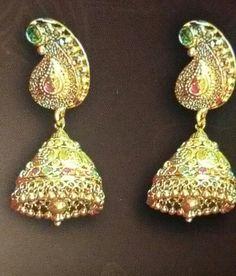 Jumka Drop Earrings, Jewelry, Jewlery, Jewerly, Schmuck, Drop Earring, Jewels, Jewelery, Fine Jewelry
