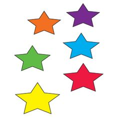 Spread colorful star cutouts on the floor in the center of your circle-time area. Recite the rhyme shown and then invite a volunteer to find a corresponding star and hold it in the air. After confirming that the color is correct, have her place the star back on the floor. Continue in the same manner with each remaining color.  Twinkle, twinkle, [yellow] star. Who can show me where you are?