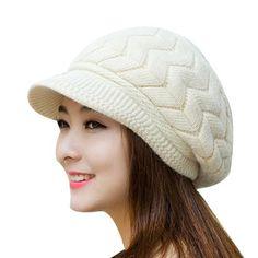 56fd63c8cbb Winter Beanies Knit Women s Hat Winter Hats For Women Ladies Beanie Girls  Skullies Caps Bonnet Femme Snapback Wool Warm Hat 2017