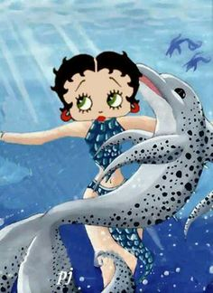 Betty with dolphin