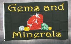 Gems And Minerals 3'x 5' Advertising Business Flag