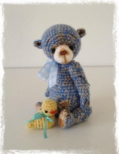 Looking for crocheting project inspiration? Check out Mini Thread Crochet Bear  'Boy Blue