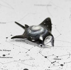 Manta Ray Fish Figurine OOAK Handmade Polymer от RamalamaCreatures