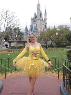 Belle costume idea for Princess Half. Run Disney Costumes, Running Costumes, Tutu Costumes, Costume Ideas, Halloween Costumes, Disney Running Outfits, Running Tutu, Princess Running Costume, Princess Costumes