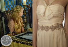 Aylee (Jenessa Grant) wears this rose gold bead and rhinestone embellished sash in this week's episode of Reign.