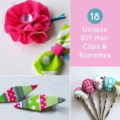 Clip here, clip there! Pop out from the rest with these DIY hair clips and barrettes