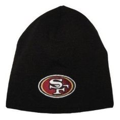 San Francisco 49ers NFL Team Apparel Logo Black Classic Cuffless Knit  Beanie Hat by NFL.  11.99. One Size Fits Most - Unisex. Embroidered Logo. 3bc1ae260