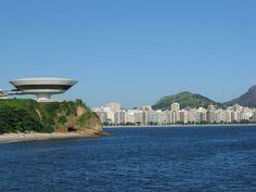 Niterói Contemporary Art Museum created by Oscar Niemeyer is one of Rio de Janeiro's main landmarks Brazil Tourism, Brazil Travel, Santiago Calatrava, Museum Of Contemporary Art, Belem, Rio Grande, Salvador, Natural, Art Museum