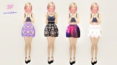 My Sims 4 Blog: Poofy Doll Skirt by Mysimlifefou