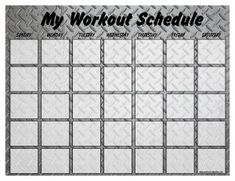 Print a workout calendar on any printer in your home.Choose blank designs or designs with popular workouts already scheduled onto them! Workout Calendar, Workout Schedule, Fitness Calendar, Health Tips, Health And Wellness, Health Fitness, Get Healthy, Healthy Life, Fitness Tips
