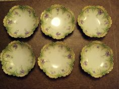 Set of  6 Antique RS Germany Berry Bowls #RSGermany