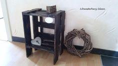 """Beistelltische - Shabby Nachttisch """"Luis"""" schwarz - ein Designerstück von Schwesterherz-Ideen bei DaWanda"""
