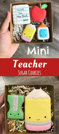 Teacher Appreciation Cookies #affiliate Iced Cookies, Cute Cookies, Sugar Cookies, Cut Out Cookies, Teachers Day Gifts, Teacher Gifts, Sugar Cookie Royal Icing, Cookie Designs, Cookie Ideas
