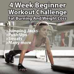 4 Week Beginner Workout Challenge: Fat Burning And Weight Loss Beach Body Challenge, Workout Challenge, How To Get Slim, Spine Health, Weight Loss Goals, Ways To Lose Weight, Lose Fat, Fat Burning, Fun Facts