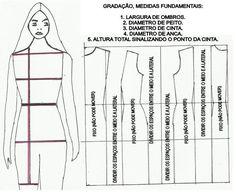 Moldes Moda por Medida: PASSO A PASSO GRADAÇÃO DE MOLDE BASE VESTIDO DE SENHORA