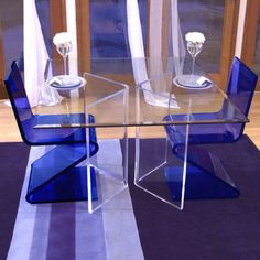 Exceptional Quality Acrylic Glass Dinning Table And Chair Sets Lucite Furniture, Home Bar Furniture, Buy Furniture Online, Furniture Sale, Cheap Furniture, Furniture Collection, Acrylic Dining Chairs, Acrylic Chair, Acrylic Furniture