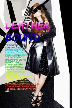 Fashion editorial. Natasha Morgan leather eyewear. Photographer: ZOMNIA Model: Spencer @FentonMoon Hair: NM Studio