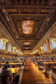 New York Public Library: Now that I've seen this, I really shall have to visit NYC just to see it for myself.